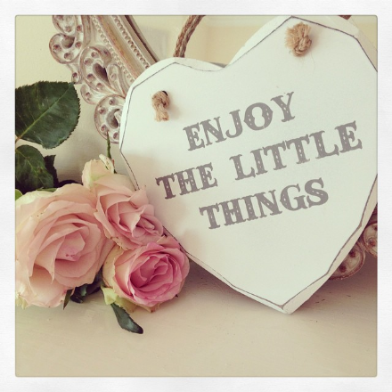 50% OFF Enjoy The Little Things Hanging Heart